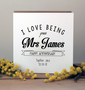 Personalised Anniversary Card - wedding, engagement & anniversary cards