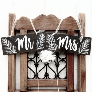 Woodland Wedding Style Chair Signs - outdoor decorations