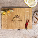 Laurel Leaves Personalised Oak Chopping Serving Board