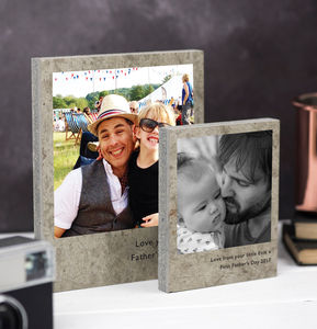 Personalised Polaroid Photo Print On Concrete - family & home