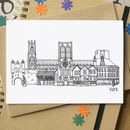 York City Landmarks Greetings Card