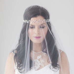 Elsie Bridal Halo Headdress