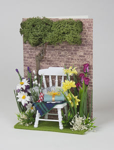 Miniature Garden Scene Personalised Greeting Card