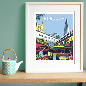 Borough Market Giclee Print - maps & locations