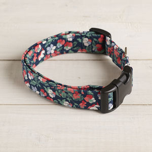 Francesca Liberty Fabric Dog Collar - dogs