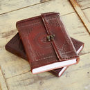 Handcrafted Indra Hefty Embossed Leather Journal