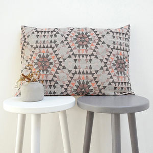 Honeycomb Patterned Cotton Cushion - throws, blankets & fabric