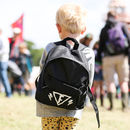 Personalised Monochrome Superhero Childrens Backpack