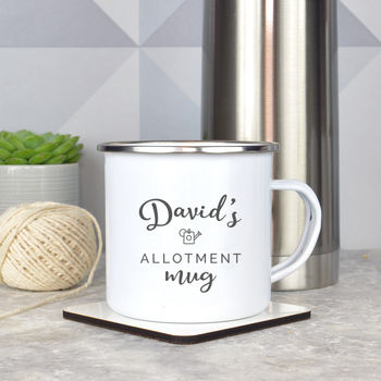 Personalised Enamel Allotment Mug