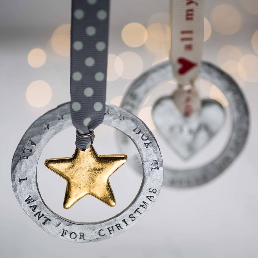 Personalised Luxe Halo Christmas Decoration