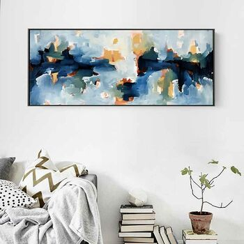 Large Abstract Painting 48 Inch Handpainted Canvas Art