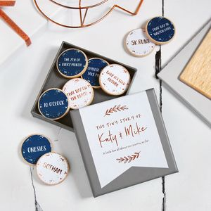 Personalised The Tiny Story Of Us Foiled Tokens - gifts for him