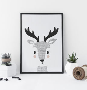 Nursery Decor Woodland Deer