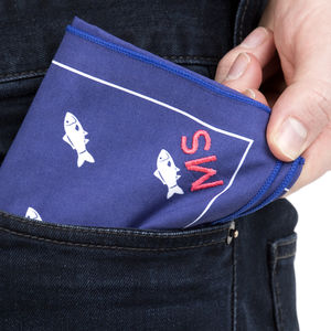 Hobby Personalised Embroidered Handkerchief Set - handkerchiefs