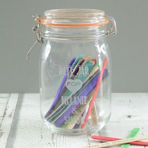 Wedding Personalised Date Jar - sale by category