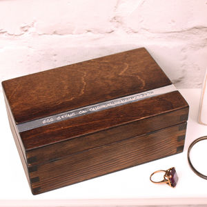 Personalised Wooden Anniversary Keepsake Box - storage