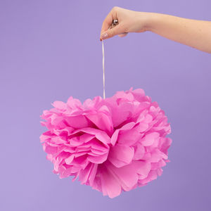 Pack Of Three Raspberry Pink Pom Poms - decorative accessories