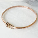 Gold Plated Personalised Bangle With Rings
