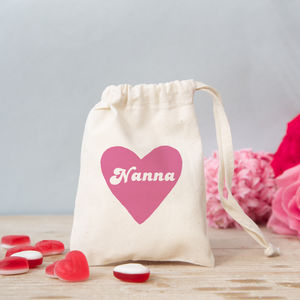 'Retro Heart' Mini Gift Bag With Sweets