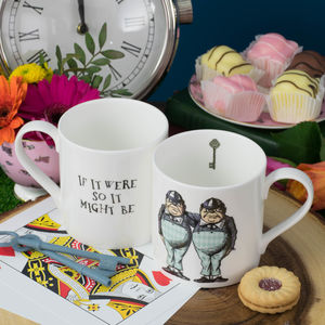 Tweedledee And Tweedledum Alice In Wonderland Mug - dining room