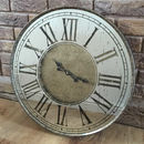 Aged Bronze Mirrored Metal Wall Clock Roman Numerals