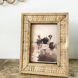 Natural Rattan Photo Frame