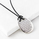 Men's Silver Quote Necklace 'In Every..'