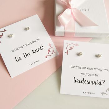 Tie The Knot Bridesmaid Earrings
