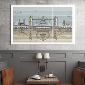 London Triptych Architectural Print