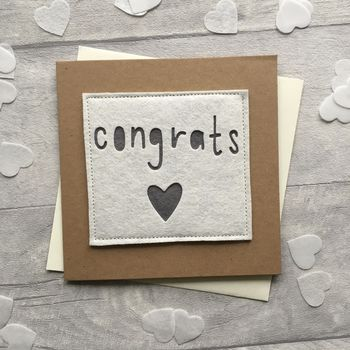 Congratulations Wedding/ Engagement/ Exams Card