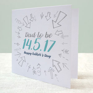 Dad To Be Due Date Card - first father's day cards