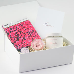 'All Is Rosy' Candle And Treats Gift Box