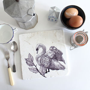 Mute Swan Natural Stone Trivet - kitchen accessories