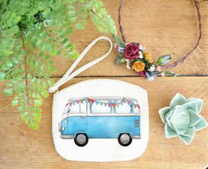 Campervan Canvas Purse - make-up & wash bags