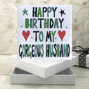 Personalised Husband Birthday Book Card