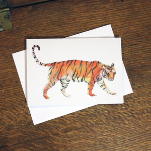 Tiger Bright Greetings Card