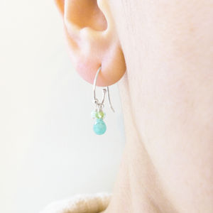 Amazonite Clustered Earrings