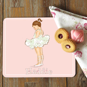 Pink Ballerina Coaster And Placemat 'Ballerina'