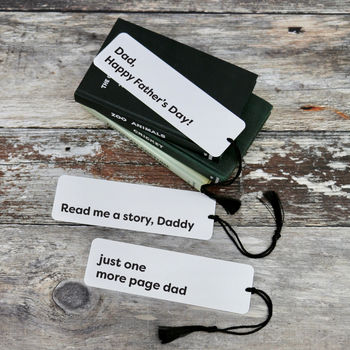 Personalised Metal Monochrome Father's Day Bookmark