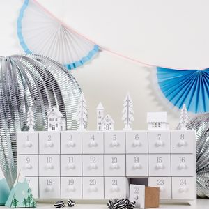 Large Wooden Christmas Village Advent Calendar - advent calendars