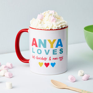 Child's Personalised 'Loves' Mug