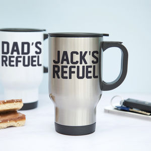Personalised Refuel Travel Mug - mugs