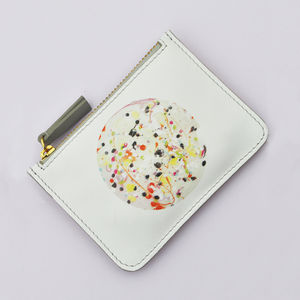 Nebula Print Leather Purse