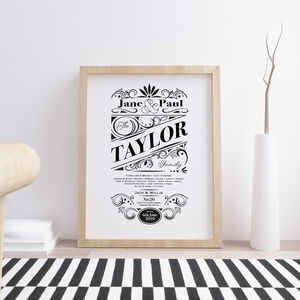 Family Typography Ornate Print