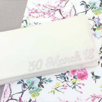 Wedding Date Personalised Bridal Clutch