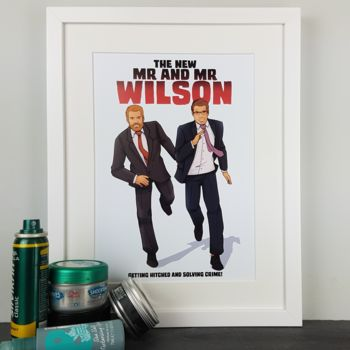 Personalised Mr And Mr Wedding Heroes Comicbook Print