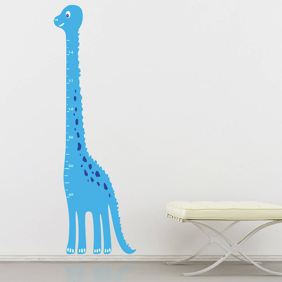 Kids Dinosaur Height Chart Wall Sticker By The Binary Box