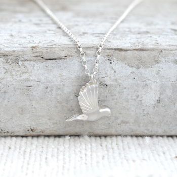 Dove Necklace In Sterling Silver