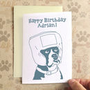 Personalised Birthday Boxer Birthday Card