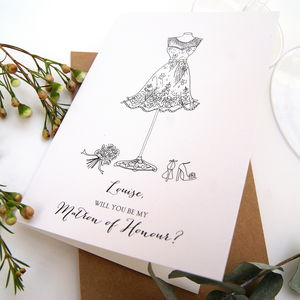 Will You Be My Matron Of Honour Personalised Card
